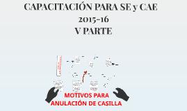 MOTIVOS PARA ANULACIÓN DE CASILLA