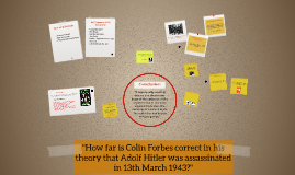"""How far is Colin Forbes correct in his theory that Adolf Hi"