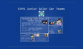 CVPS Junior Solar Car Teams
