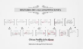 HISTORIA DE LAS CONSTITUCIONES
