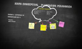 Mapa Conceptual planificacion pedagogica