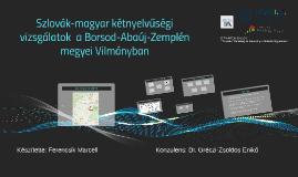 Kétnyelvűség a Borsod-Abaúj-Zemplén megyei Vilmányban