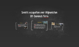 Soviets occupation over Afghanistan