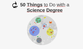 50 Things to Do with a Science Degree