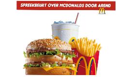 Spreekbeurt McDonald's
