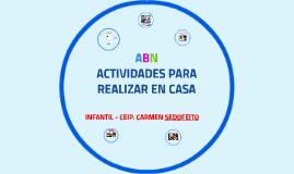 ACTIVIDADES PARA CASA