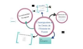L'immigration et les Droits de l'homme en France