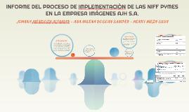 INFORME DEL PROCESO DE IMPLEMENTACION DE LAS NIFF PYMES EN L