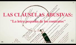 LAS CLÁUSULAS ABUSIVAS