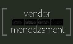 Vendor Menedzsment