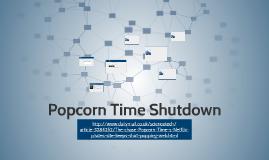 Popcorn Time Shutdown