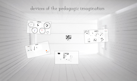 Copy of devices of pedagogic imagination
