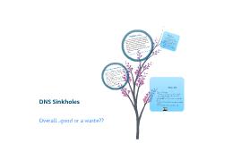 DNS Sinkholes