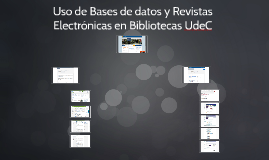 Bases de datos, Revistas Electrónicas, Metabuscador