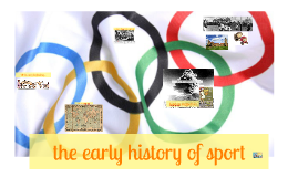 the early history of sport