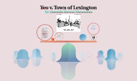 Yeo v. Town of Lexington