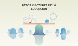 RETOS DE LA EDUCACION