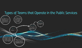 Types of Teams that Operate in the Public Services