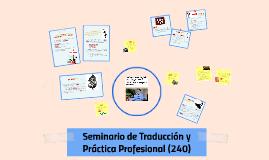 Seminario de Traducción y Práctica Profesional (240)