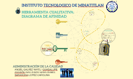 HERRAMIENTA CUALITATIVA: DIAGRAMA DE AFINIDAD