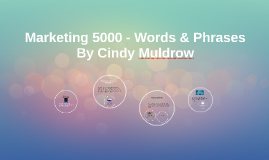 Marketing 5000 - Words & Phrases