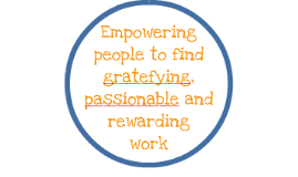 Empowering people to find gratefying, passionable employment