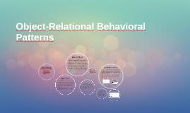 Object-Relational Behavioral Patterns