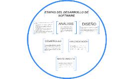 ETAPAS DEL DESARROLLO DE SOFTWARE
