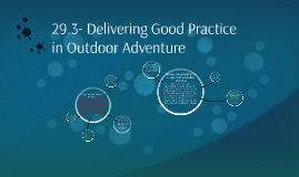 29.3- Delivering Good Practise in Outdoor Adventure