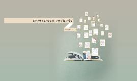 Copy of DERECHO DE PETICION