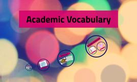 CST Academic Vocabulary
