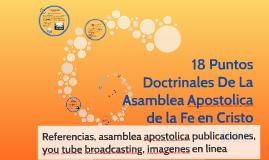 Copy of 18 Puntos Doctrinales De La Asamblea Apostolica de la Fe en