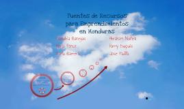 Copy of Fuentes  de Recursos para Emprendimientos en Honduras
