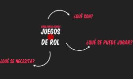 JUEGOS DE ROL