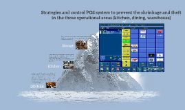 Strategies and control POS system to prevent the shrinkage a