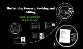 The Writing Process: Editing and Revising
