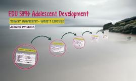 Wk 7: EDU 589H: Adolescent Development