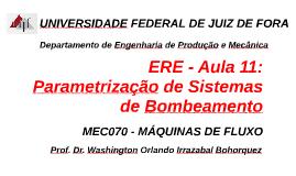 MEC008 - SISTEMAS FLUIDO MECÂNICOS - AULA 11