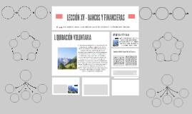 LECCIÓN XV - BANCOS Y FINANCIERAS