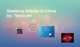 Stabbing Attacks in China
