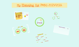 My Planning For PMBG 2013/2014