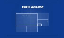Honors renovation