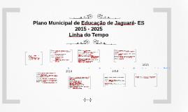 Plano Municipal de Educação de Jaguaré- ES - Linha do Tempo