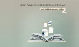 APOYOS PARA  LA EDUCACIÓN INCLUSIVA 6ta. EDICIÓN 2018