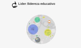 Lider /lidereza educativo