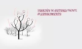 Copy of POSICIÓN DE AUTORES FRENTE AL CONOCIMIENTO