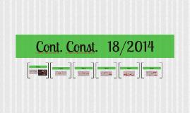 Cont. Const.   18/2014