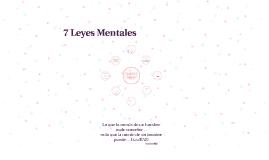 7 Leyes Mentales