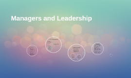 Managers and Leadership
