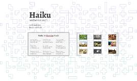Haiku (and so can you!)